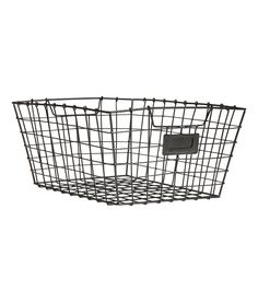 Check this out! Metal wire basket with handles at sides. Size 6 x 9 x 11 3/4 in. - Visit hm.com to see more.