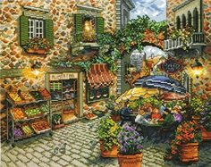 Counted Cross Stitch Kit Sidewalk Cafe From Design Works