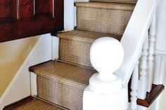 Indoor Outdoor Stair Runner- I think this might be the perfect idea to replace the cream berber on my stairs!