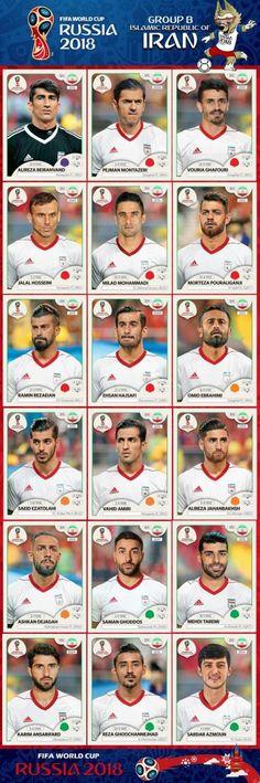 # Panini Stickers # Iran National Team FIFA World Cup 2018 footandball. Uefa Football, Football 2018, Brazil Football Team, Best Football Team, Iran World Cup, World Cup Russia 2018, World Cup 2014, Iran National Team, Iran Soccer