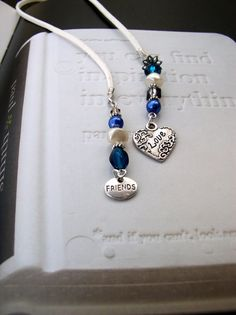 WINTER LOVE  Handmade Beaded Bookmark for by VitezArtGlassDesign, $12.00