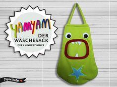 YamYam Der Wäschesack fürs Kinderzimmer APFELGRÜN