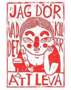 Lisa Ewald, broderi och tecknade serier Swedish Quotes, Deep Art, Slow Dance, Graphic Illustration, Art Projects, Art Photography, Street Art, Sketches, Prints