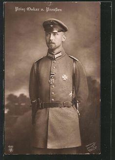 Prinz Oskar Von Preussen with Iron Cross Pistol Bag WWI