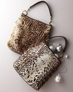 Calf-Hair Shoulder Bag; love the animal print ♥