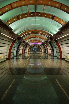 saint petersburg underground\metro. One of the newest stations.
