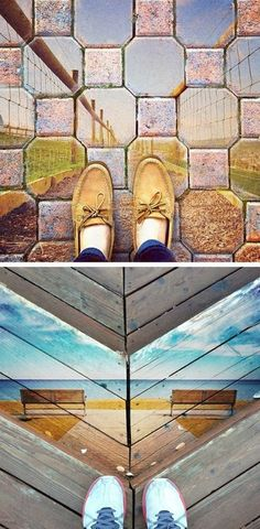Kyle's Instagram collaboration, #FromWhereIStandBlended, is so brilliant. He takes two photos from other people's feeds and blends them together to create an entirely new image. Aren't they surreal?