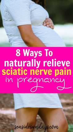 Sciatica in pregnancy is a literal pain in the butt! There is no pain like it. Luckily there are some natural remedies for sciatic nerve pain that work. Sciatic Nerve Relief, Sciatic Pain, Knee Pain Relief, Sciatica Pregnancy, Nerve Pain, Natural Remedies, Healthy, Knee Brace, The Cure