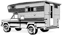 Camper plans: Acapulco 8' truck camper design