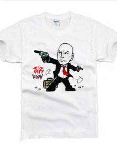 Hitman: Agent 47 t shirt short sleeve oversized mens tshirts-