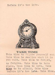 Tyler Knott // Take Time