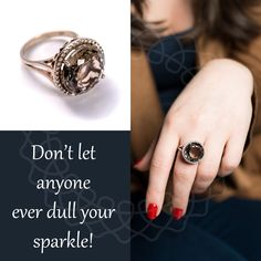 Don't let anyone ever dull your sparkle! Class Ring, Sparkle, Passion, Rose Gold, Let It Be, Rings, Jewelry, Schmuck, Jewlery