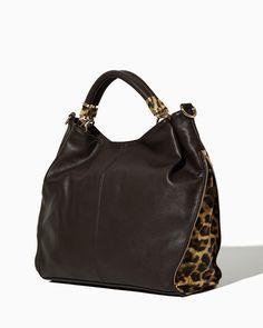 charming charlie | Saraleigh Leopard Shoulder Bag | UPC: 410006914872 #charmingcharlie