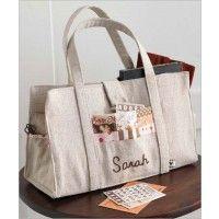 Patchwork Linen Handbag   InterweaveStore.com