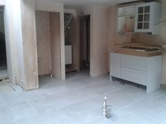 nearly finished Tile Floor, It Is Finished, Flooring, Texture, Kitchen, Crafts, Surface Finish, Cooking, Manualidades