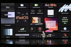 Apple's most basic iPad gets a bigger and better screen, stays the same price - AIVAnet Business Presentation Templates, Presentation Slides, Presentation Design, Iphone Event, Augmented Reality Apps, Keynote Design, Powerpoint Design Templates, Apple New, Custom Fonts