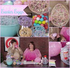 Learn how easy it is to make String Easter Eggs from Twine #doodlebug #mycraftchannel