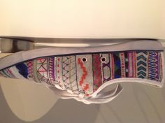 aztec design on shoes . #aztec #colourful #shoes #fashion #art #hipster #lines #glitter #DIY