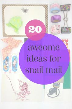What do you like to send and receive in snail mail? This list of 20 fantastic ideas to send along with your letters will make you the best pen pal ever..!