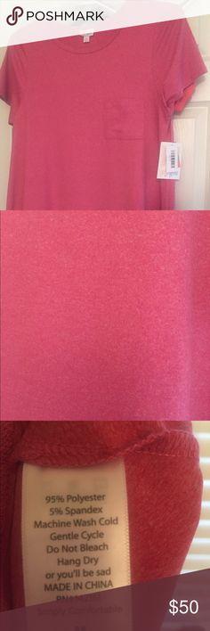 Lularoe Carly M Brand new, never worn pink heathered carly. Beautiful buttery soft. LuLaRoe Dresses High Low