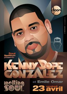 Melting Soul: Kenny Dope by on DeviantArt House Music Artists, Larry Levan, Much Music, Musical Theatre, Musicals, Deviantart, Illustration, Movie Posters, Flyers