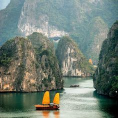 Sailing on Ha Long Bay, Vietnam. Photo courtesy of cheewah on Instagram.