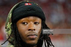 New Orleans Saints running back Alvin Kamara looks on before the 2018 SEC Championship Game between the Georgia Bulldogs and the Alabama Crimson Tide at Mercedes-Benz Stadium on December 2018 in. Get premium, high resolution news photos at Getty Images Football Run, Football Girls, Alvin Kamara, New Orleans Saints Football, Who Dat, Southern Girls, Championship Game, Running Back, Sports Stars