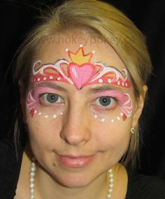 Face Painting Designs  - Heart princess
