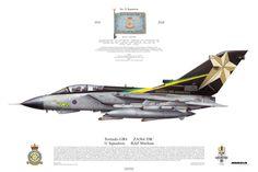 """Tornado GR4, 31 Squadron, RAF Marham """"Goldstars - 90th birthday"""""""