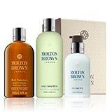 Molton Brown® Black Pepper Shower Gel, Shampoo & Moisturiser Gift Set for Him | Shop Online