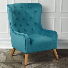 wingback chair dark blue