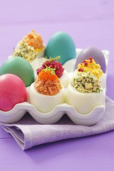 Österliche Eier mit Füllung | Zeit: 40 Min. | http://eatsmarter.de/rezepte/oesterliche-eier-mit-fuellung-0
