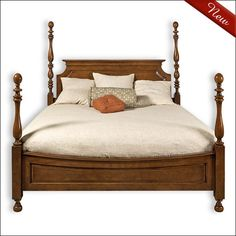 allison four poster bed - Fruitwood Bedroom Furniture