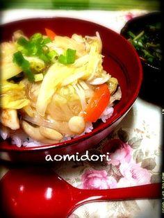 冷蔵庫にあったもので、簡単休日ランチ - 35件のもぐもぐ - 中華丼ランチ by aomidori