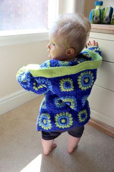 child's granny square jacket