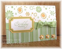 Ingredients:   Card/Paper:  Whisper White, Certainly Celery Designer Paper, Apricot Appeal & Certainly Celery card Ink:  Certainly Celery & ...