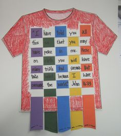 @Sonia Williams Massey This would be fun for AWANA - Easy Bible Craft Joseph's Coat
