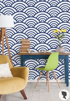 Bold & Chic self adhesive removable wallpaper! Add personalised charm to…