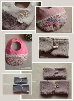 Handmade baby bibs. Customized with lace, florals and other cute things.