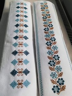 Cross Stitch Borders, Cross Stitch Rose, Cross Stitch Flowers, Cross Stitch Designs, Cross Stitch Patterns, Hand Embroidery Design Patterns, Hand Embroidery Videos, Hand Embroidery Stitches, Paper Towel Roll Crafts