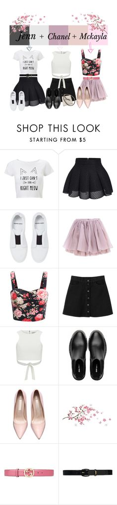 """3 in 1"" by sugarbudd ❤ liked on Polyvore featuring Pierre Hardy, Olympia Le-Tan, Monki, Lavish Alice, Miu Miu, Gucci, Lauren Ralph Lauren and Chanel"
