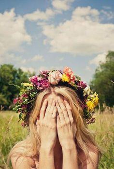 Flores na cabeça!