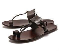 Sale 40%OFF ☆ FABIANO RICCI Fabiano Rich 9000 men's leather sandals dark brown