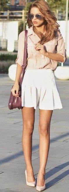 #summer #popular #outfits |  Nude + Biały