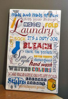 Laundry Room Subway art 12x18 inch by KamisDigitalCreation on Etsy, $5.00