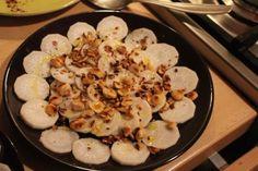 radis noir, noisettes et huile de truffe