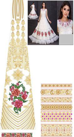 39 New ideas embroidery designs dress sequins Embroidery Designs Free Download, Embroidery Neck Designs, Embroidery Patterns, Zardozi Embroidery, Embroidery Dress, Mesh Dress, Sequin Dress, Textile Patterns, Textile Design