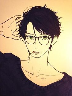 i have a thing for him... even though he's a drowing !!! T_T  Hirunaka no Ryuusei - Shishio Satsuki / Yamamori Mika´s sketch
