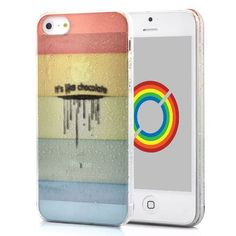 Five-color Parallel Strips Pattern Transparent Waterdrop Hard Case for iPhone 5. $8.00, via Etsy.