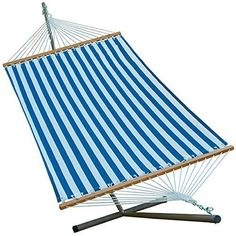 11 u0027 fabric hammock and stand  bination algoma    pany polyester fabric hammock bed with stand  blue      rh   pinterest